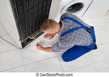 fazer, repairman, dispositivo, refrigerador