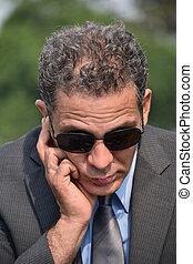 Fbi Agent Listening Wearing Sunglasses