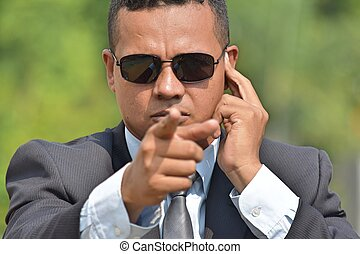 Fbi Agent Pointing