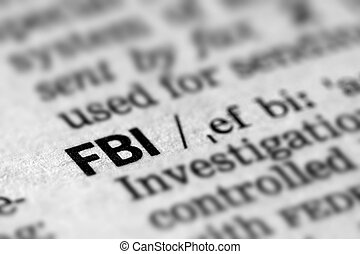 FBI Definition Word Text in Dictionary Page