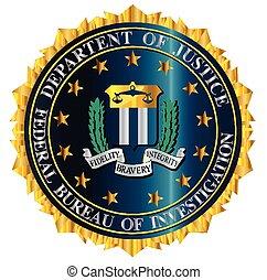 fbi, sello, mockup