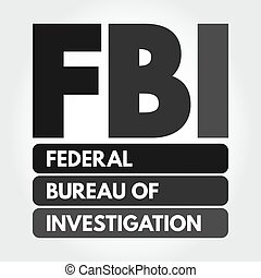 fbi, siglas, investigación, oficina, federal, -