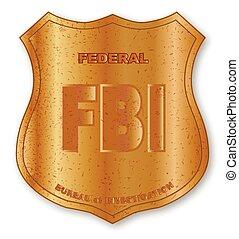 A gold fbi badge isolatrd over a white background vector - Fbi badge wallpaper ...