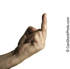 f#ck you! - isolated hand on white background