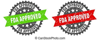 fda approved band sign. fda approved grunge stamp set