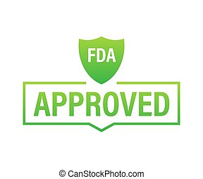 FDA approved grunge rubber stamp on white background. Vector illustration.