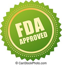 Fda approved icon isolated on white background