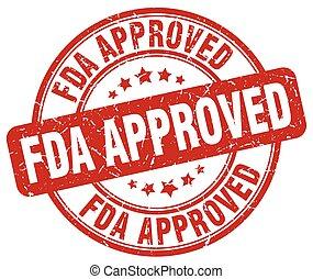 fda approved red grunge round vintage rubber stamp