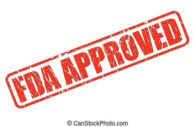 FDA Approved red stamp text