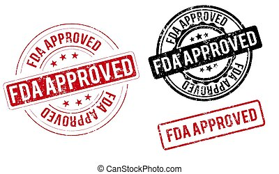 fda approved stamp fda approved label round grunge sign