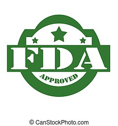 Green stamp with text FDA Approved, vector illustration