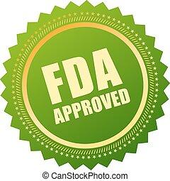 fda, goedgekeurd, pictogram