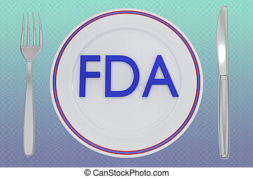 FDA - health concept - 3D illustration of FDA title on a ...