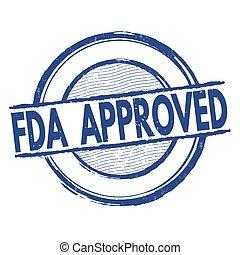 fda, postzegel, goedgekeurd
