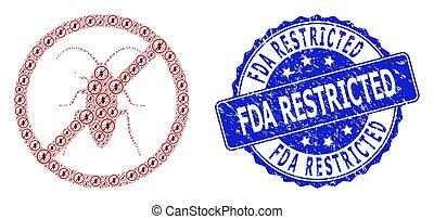 fda, watermark, ronde, verboden, recursion, pictogram, ...
