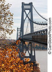 FDR Mid-Hudson Bridge connects the towns of Poughkeepsie and Highland, NY.