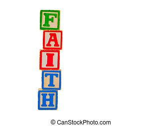 fe, 2, bloques, carta
