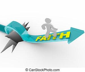 fe, -, hombre, él, excepto, creencias