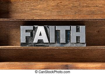 fe, palabra, bandeja