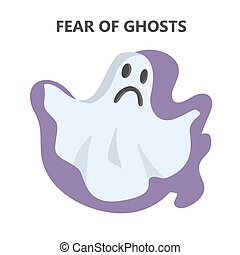 Fear of ghost. Evil and scary character