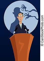 Fear of public speaking - Creepy hands reaching the shadow ...