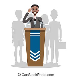 Fear of the public speaking or glossphobia.