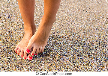 Fear Of Water - Girl With Nice Feet Has Hydrophobia (Fears...
