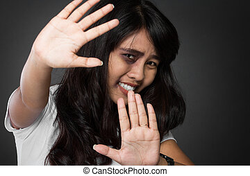 Fear of woman victimnof domestic violence and abuse