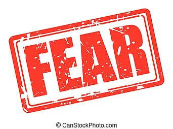 Fear red stamp text