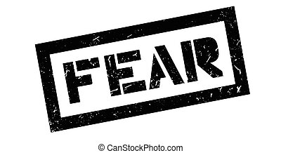 Fear rubber stamp on white. Print, impress, overprint.