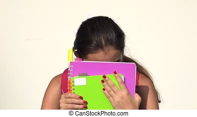 Fearful Or Timid Hispanic Female Teen Student