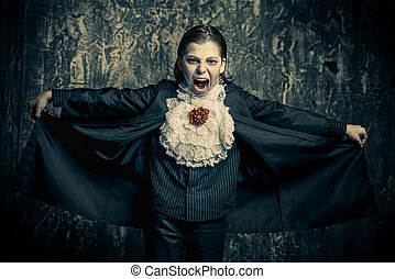 fearfull vampire kid