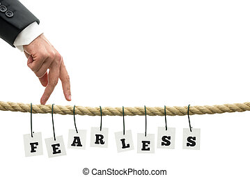 Fearless concept with the word fearless in alphabet letters...