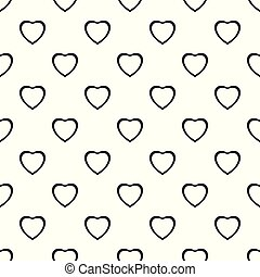 Fearless heart pattern seamless vector repeat geometric for...