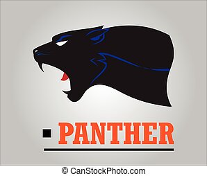 Fearless Panther. Roaring Panther. Panther head.