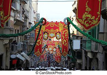 Feast of St. Pauls Celebration in Valletta, Malta