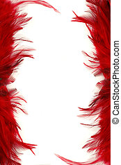 feather borders - red feather border and frame