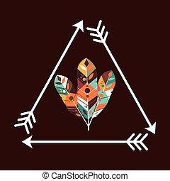 feather decoration design, vector illustration eps10 graphic...