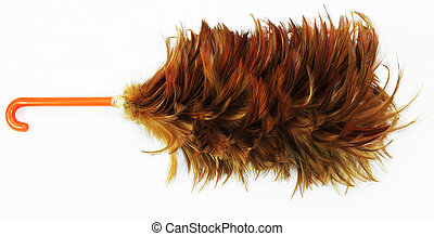 Feather duster on white background