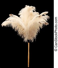 Feather Duster - Feather duster made from real ostrich...
