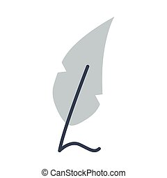 feather font ink flat style icon