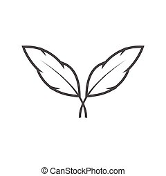 Feather graphic design template vector isolated