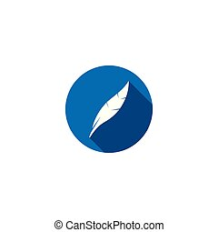 Feather icon attorney law graphic template