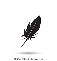 Feather icon isolated on white background