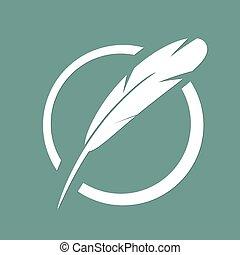 Feather Icon. pen writing