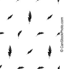 Feather Icon Seamless Pattern