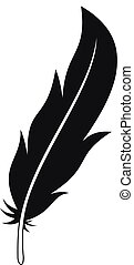 Feather icon, simple style