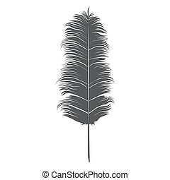 Feather. Isolated on white background. Vector Illustration.