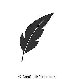 Feather pen black icon