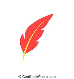 Feather pen flat icon